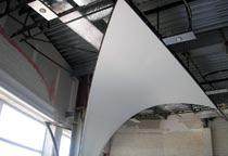 Создание 3-d потолков - натяжение на каркас.