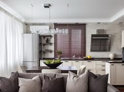 Натяжные потолки на кухне: фото, выбор дизайна, цены