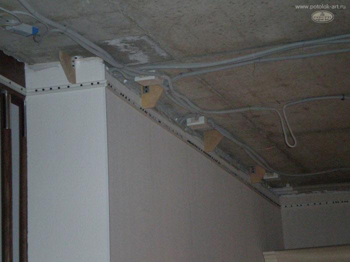 Upevnenie stretávacieho stropu bagety na sadrokartón