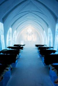 Ледяные потолки в Absolut Bar в Стокгольме