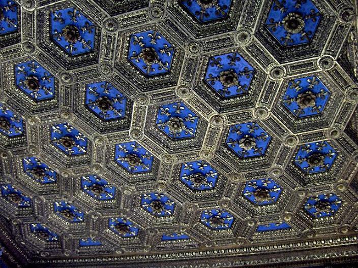 Кружевные потолки в музее Palazzo Vecchio