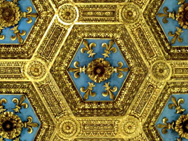 Ажурные потолки в Palazzo Vecchio