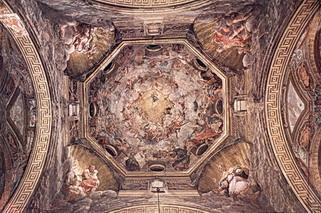 Роспись потолка в куполе собора в Парме (художник Корреджио)