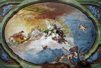 Роспись потолка в куполе собора