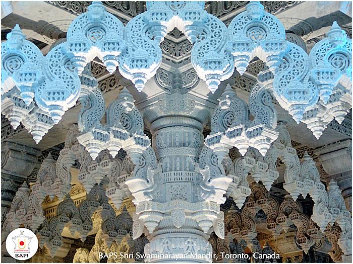 Кружевные потолки в индуистском храме