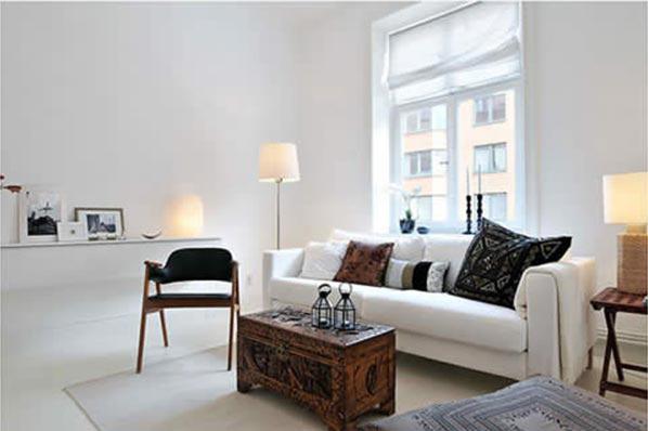 Натяжные потолки белого цвета в стиле минимализм