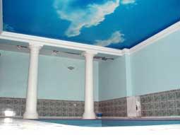 Использование Черутти для монтажа потолков в бассейне