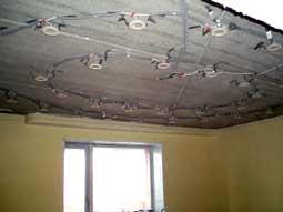 Технология монтажа светильников в натяжные потолки