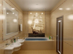 Натяжные потолки в ванной комнате - монтаж поверх плитки