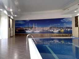 натяжные стены в бассейне Владикавказ