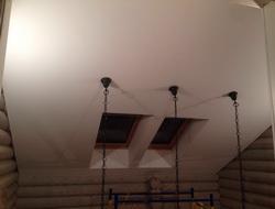 Потолок для мансарды в бревенчатом доме