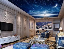 Многоровневый потолок с рисунком