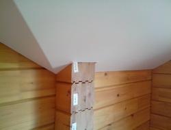 Потолок для мансарды в бревенчатом доме пожаробезопаность