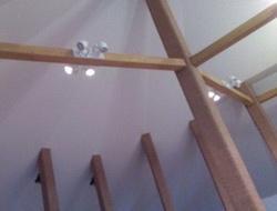 Потолок для мансарды колонны